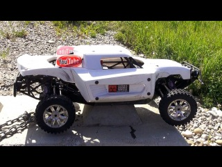 RC ADVENTURES - LOSi 5ive T's 4x4 LARGE 1/5th SCALE TRUCKS - PROJECT LARGE, & Stock Losi 5T Bashing