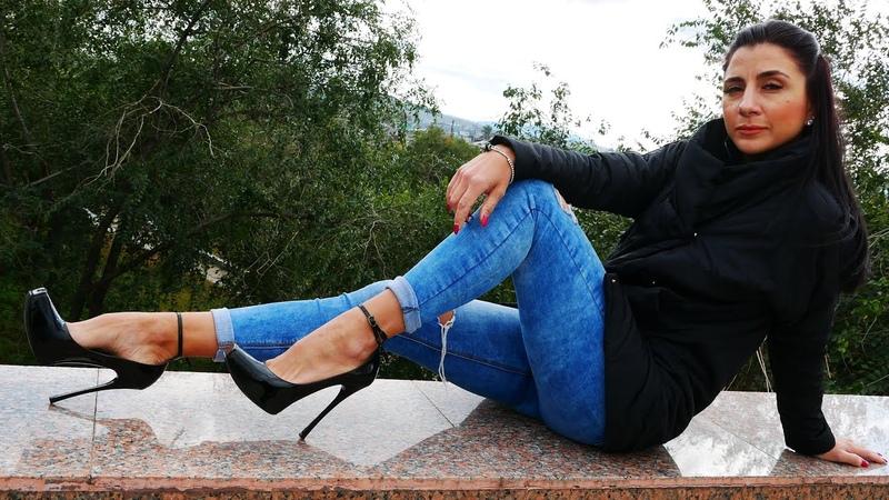Catherina's square toe high heels Gianmarco Lorenzi patent leather pumps Size EU 37 US 7