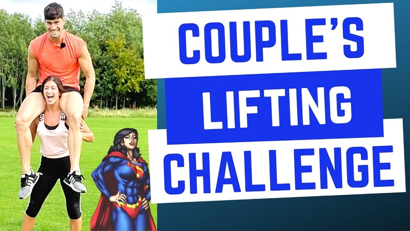 COUPLES LIFT AND CARRY CHALLENGE She beat me 😭