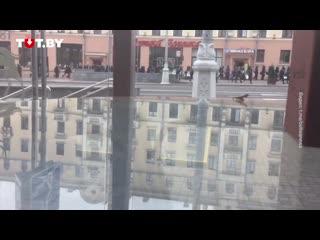 Водометы и оцепление на Площади Победы 27 сентября