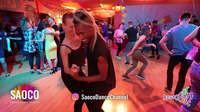 Daniel Torriente and Viktoria Klimenko Salsa Dancing at Rostov For Fun Fest 2018 Monday 05 11 2018