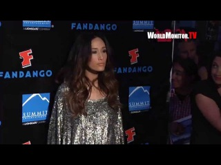 'Maggie Q' from Nikita arrives at  Summit Entertainment's Comic Con Redcarpet