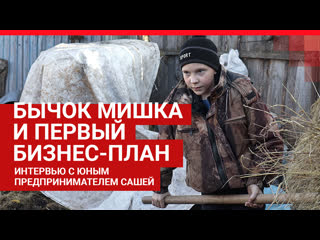 Как 11-летний школьник зарабатывает на яблоках, быках и металлоломе