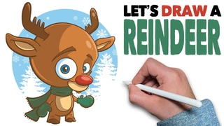 Let's Draw a Reindeer: iPad & Procreate Tutorial & Free Holiday Brushes!