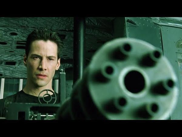 Neo saves Morpheus The Matrix Open Matte