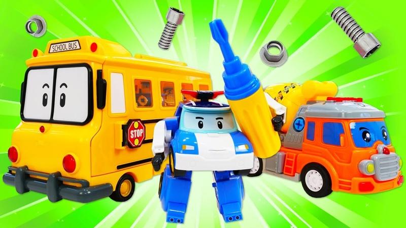 Robocar Poli et son équipe en jouets Le camion tombé Vidéos en français pour enfants