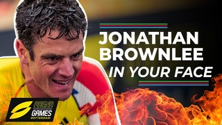 Olympic star Jonny Brownlee takes on the first ever virtual and real life triathlon on Zwift