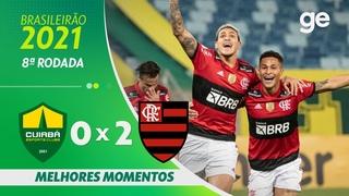 CUIABÁ 0 X 2 FLAMENGO   MELHORES MOMENTOS   8ª RODADA BRASILEIRÃO 2021  