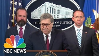 Watch: Attorney General William Barr's Full News Conference On Mueller Report | NBC News