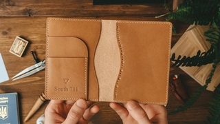 Making leather wallet for document | Портмоне для документов | PDF pattern | DIY | ASMR