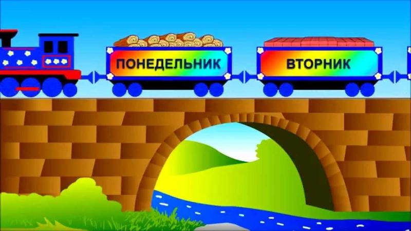 Детский познавательный мультфильм Паравозик изучаем дни недели