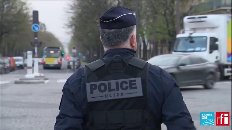 Полицейские штрафуют нарушителей карантина во Франции
