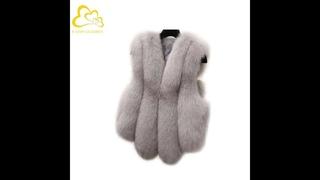 Осенне зимний модный женский жилет из искусственного меха, жилеты без рукавов, теплая тонкая верхняя одежда, жилет,