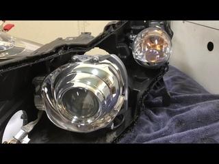 Infiniti FX37 ремонт фар, замена линз bi-led