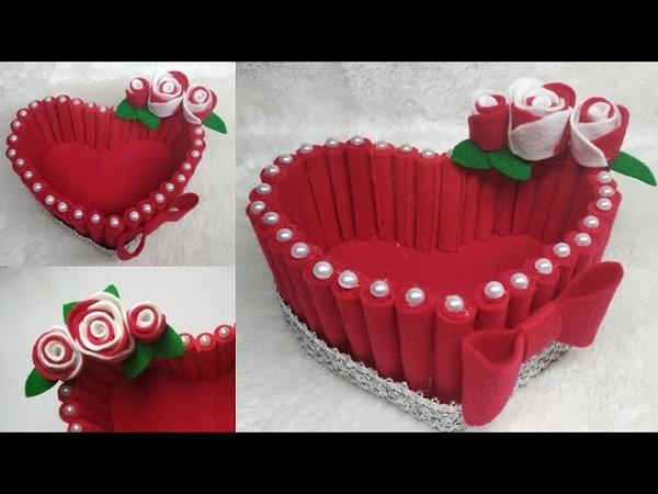 103) Ide Kreatif - Kreasi tempat permen dari kain flanel || candy love | the idea of flannel cloth