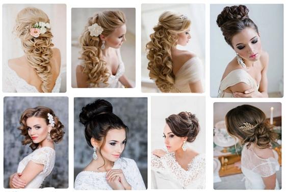 Свадебная прическа косы лента