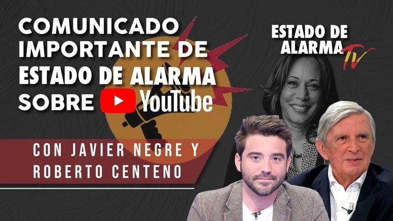 EN DIRECTO COMUNICADO IMPORTANTE de ESTADO DE ALARMA sobre YOUTUBE