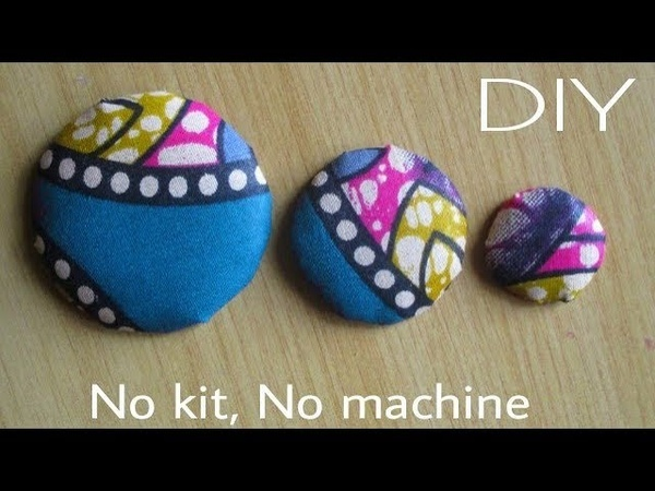 How To Make COVER BUTTONS from scratch Detailed description