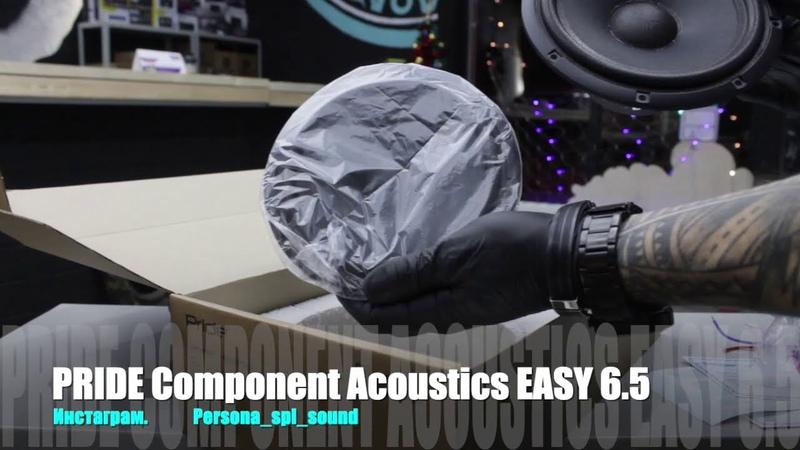 Распаковка PRIDE Component Acoustics EASY 6 5 Студия автозвука Persona Customs Автозвук НароФоминск