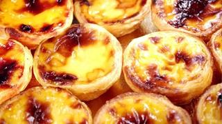 Паштел-Де-Ната. Португальская сладость в корзиночке из слоённого теста с заварным кремом.