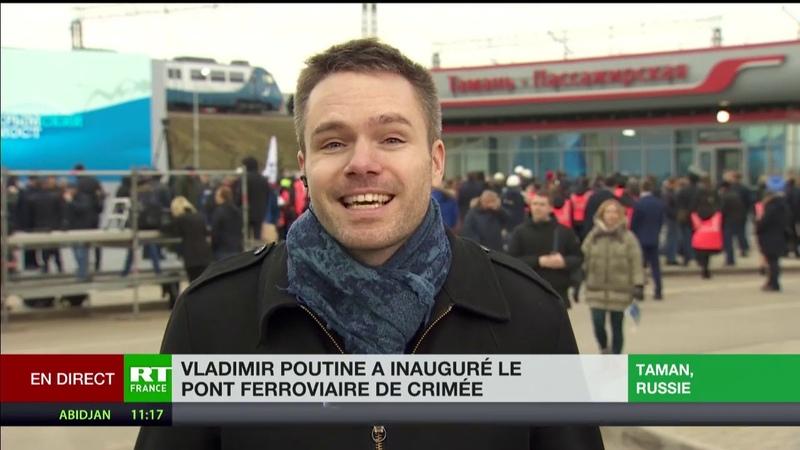 Vladimir Poutine a inauguré le pont ferroviaire de Crimée