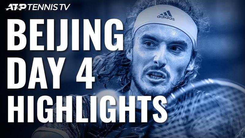 Zverev Beats Auger-Aliassime Tsitsipas Isner Reach Quarter-Finals | Beijing 2019 Highlights Day 4