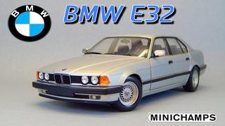 BMW E32 7-Series Minichamps 90-е   Обзор масштабной модели 1:18   Бумер