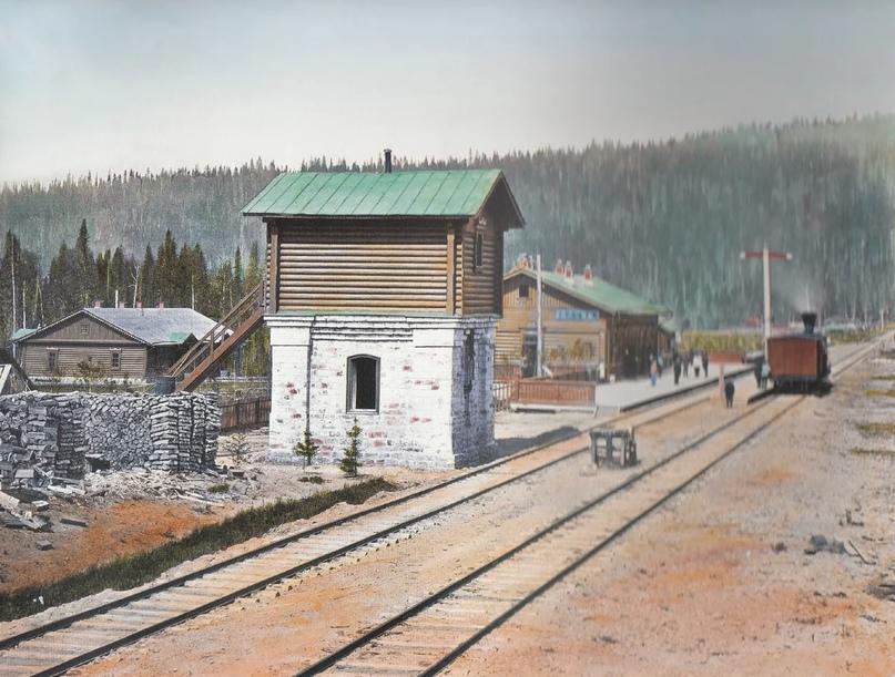 Первозданная железнодорожная Россия в цвете эпохи царской Империи глазами неизвестного фотографа, изображение №20