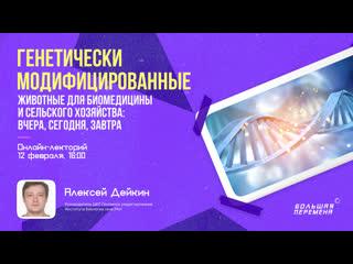 """Онлайн-лекторий """"Генетически модифицированные животные"""""""