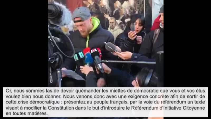 Conférence de Presse Maxime NICOLLE et Priscillia LUDOSKY La France en colère