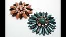 Schmuck selber machen: Blume aus böhmischen Glasperlen, als Brosche, Ring oder Anhänger. Tutorial.