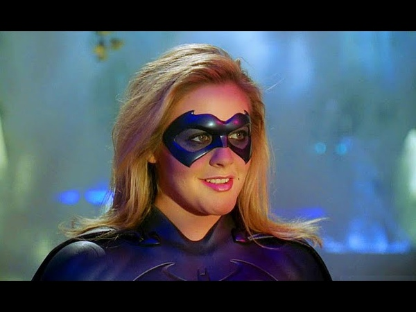 Бэтгёрл спасает Бэтмена и Робина Бэтмен и Робин 1997 Момент из фильма