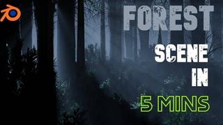 How I Made This DARK FOREST Scene In Blender!