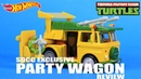 Hot Wheels TMNT Party Wagon SDCC Exclusive Turtle Van Review