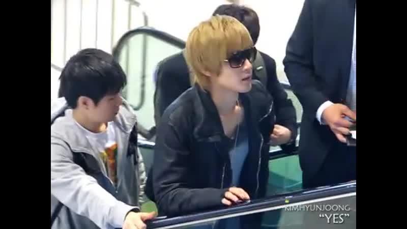 2011.11.08 Kim hyun joong@Gimpo Airport departure
