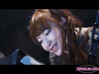 Asian military girl tickling n more