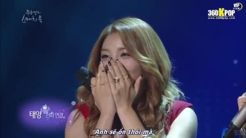 Vietsub 141011 Taeyang Phonecall to Ailee @Yoo Hee Yeol Skechtbook VIPTeam @ 360KPOP
