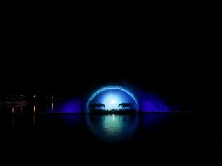 Винницкие фонтаны.Лазерное шоу.