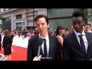 В. Cumberbatch meeting the Misfits cast