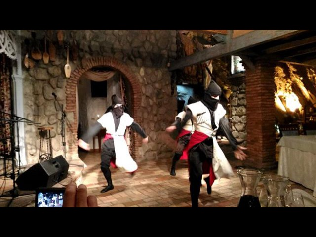 National dance at Tsiskvili restaurant, Georgia