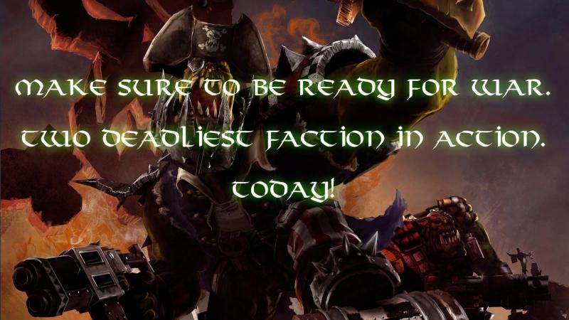 Battle report Orks vs Necrons 1850pts.