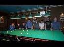 Хорошо забитые шары турнира по свободной пирамиде на русском бильярде