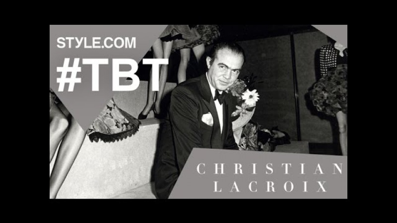 Christian Lacroix Dancing on the Lip of the Volcano TBT With Tim Blanks