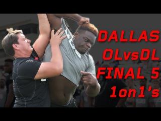 "Dallas OL vs DL ""Final 5"" 1 on 1's | Nike Football The Opening Regionals"