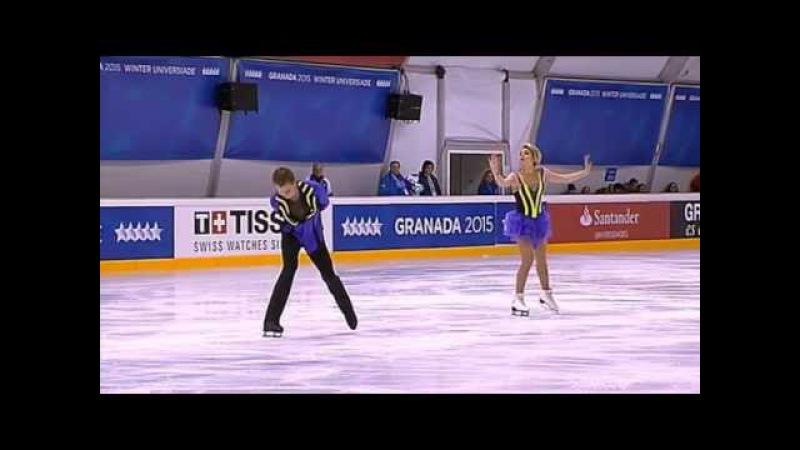 Evgenia KOSIGINA Nikolai MOROSHKIN RUS FD @ Winter Universiade 2015