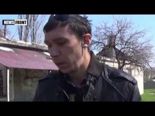 Айдаровцы для канала 1+1 заставляли пленного мирного жителя ЛНР лгать про ополченцев