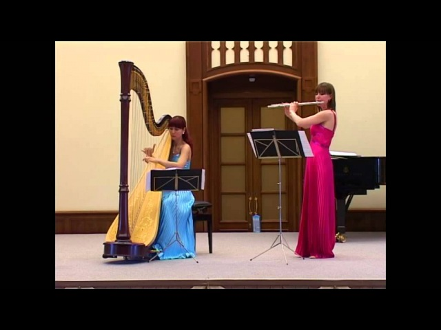 Дуэт арфы и флейты Сен-Санс Лебедь