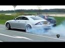 Mercedes-Benz CLS 55 AMG BURNOUT Drag Racing! LOUD Exhaust Sounds!!