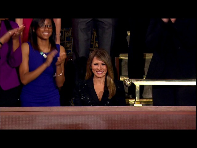 WATCH: Melania Trump Receives Standing Ovation At The Address To Congress