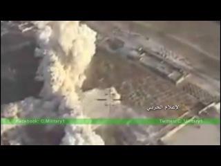 Авиация уничтожает технику и укрытия террористов в Алеппо